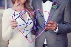 geometric heart decor