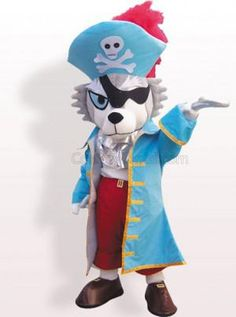 Pirate Dog Plush Adult Mascot Costume - all the mascot costumes are global free shipping at http://www.cosplayzentai.com