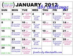 Doing this. Starting on Sunday, for 31 days instead of the month of January.