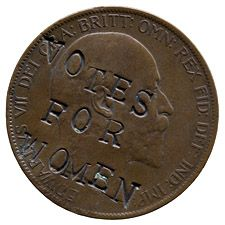 Object of the day? Suffragette-defaced penny