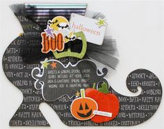 This was created by Paisleys and Polka Dots with AccuCut's Witch Shoe Album die . Love all the Halloween embellishments. See more dies at www.accucutcraft.com