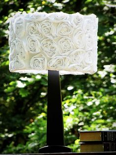 Make this Shabby rose lampshade tutorial and 45 BEST Shabby Lifestyle Decor & Accessory DIY Tutorials EVER!!  From MrsPollyRogers.com