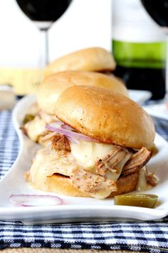 Pulled pork and brie grilled cheese sliders