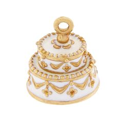 Wedding Cake 14k Gold Charm