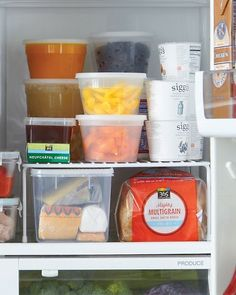 Use Shelf Risers To Increase Storage Space in Refrigerator : great idea from Martha Stewart.