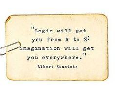 imagination einstein quotes, imagin, wisdom, inspirational quotes, thought, word, albert einstein, logic, live