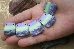 Polymer Clay Beads Northern Lights Montana Skies by StudioStJames