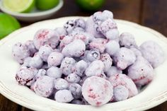 Frozen Berries with Coconut and Lime #food #paleo #glutenfree