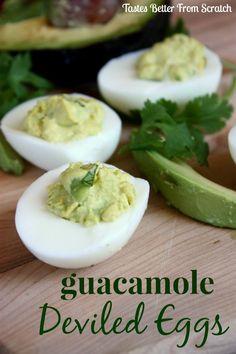 Guacamole Deviled Eggs on MyRecipeMagic.com