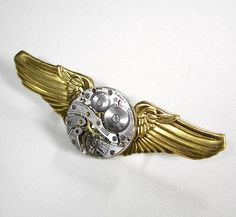 old pilot / stewardess wings / watch parts