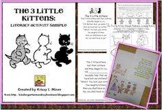 The 3 Little Kittens Literacy Activity Sample
