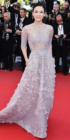 Zhang Ziyi in an Elie Saab Couture gown and Boucheron jewellery in Cannes 2013