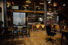 NewME Accelerator Founder and CEO Angela Benton's beautiful loft offices #theeverygirl #office