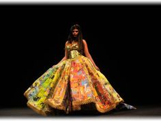 This dress is made out of Golden books!!
