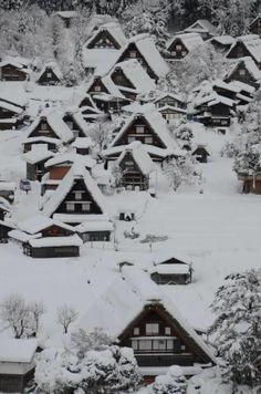 Snow ~ Shirakawa-go, Gifu, Japan