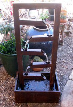Metalwork fountains