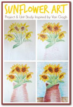 art project, van gogh, kid art, unit studi, kid inspir