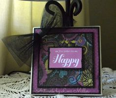 Clearly from the Heart: Rediscover CTMH - You Make Me Happy Canvas (Surprised it's not a card??) #CTMH
