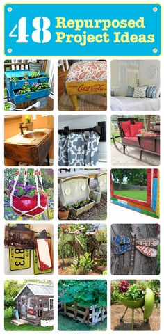 48 DIY Repurposed Project Ideas — click to see more!
