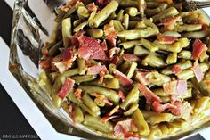 Easy, delicious Brown Sugar Bacon Green Beans (from canned green beans)
