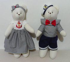 Ursos marinheiros. ***Valor referente ao casal de ursos. R$ 176,00