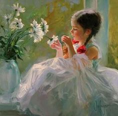 """Painting by Vladimir Volegov  """"No one has yet fully realized the wealth of sympathy, kindness and generosity hidden in the soul of a child. The effort of every true education should be to unlock that treasure.""""  ~Emma Goldman"""