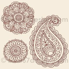 Paisley Doodles for royal icing