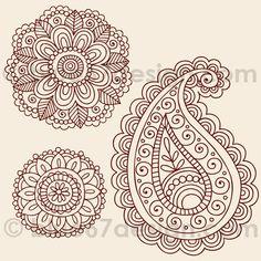 Mehndi Henna Tattoo Paisley Doodles Illustration by blue67design | Flickr - Photo Sharing!