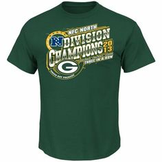 Green Bay Packers 2013 NFC North Division Champions T-Shirt - Green