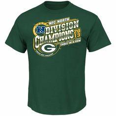 Green Bay Packers 2013 NFC North Division Champions T-Shirt - Green