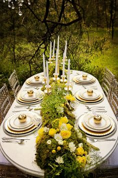Stunning formality outdoors