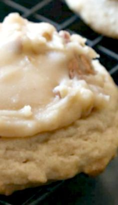 Praline Cookies ~ They are a soft brown sugar cookie topped with Warm Praline frosting that melts right into the cookie... Outrageously good!