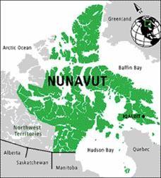 nunavut canada average temperature