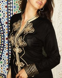 Black Moroccan Caftan Dress