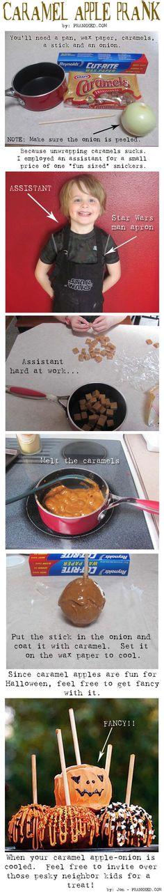 Caramel Apple (onion) prank!