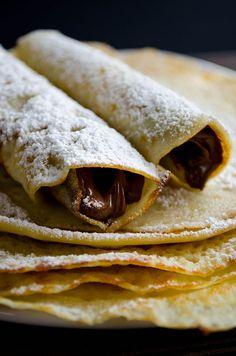 Gluten-Free Nutella Crepes #glutenfree