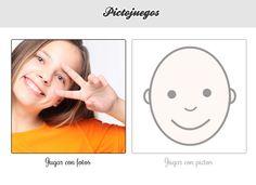 SOFTWARE - Pictojuegos: Emociones.  A elección del usuario y través de pictogramas ARASAAC e imágenes reales, el usuario tiene que acertar que imagen aleatoria corresponde a la locución de voz que escuchan y al texto que aparece en cada pantalla. Es un juego de lo más sencillo, pero que gusta al ver reflejados a otros niños representando las emociones citadas.  http://www.pictojuegos.com/emociones/