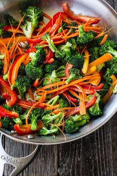 Easy Broccoli Stir Fry. With a wonderful sauce recipe with fresh ginger and orange juice. You can add any protein you like. @Ashley Walters Walters Walters McLaughlin   Edible Perspective