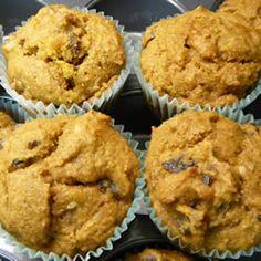 Pumpkin Wheat Honey Muffins.