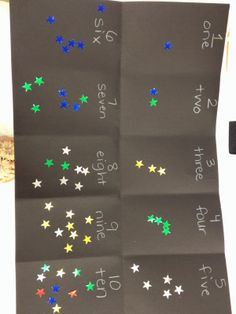 Counting stars with shiny star stickers!