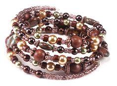 Jewelry Making Idea: Caramel Apple Memory Wire Bracelet