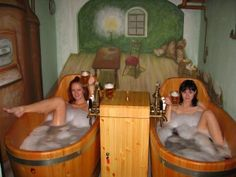 I will be taking a bath in beer! I will not be flashing the camera...