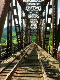 Train Trestle across the New River at Thurmond