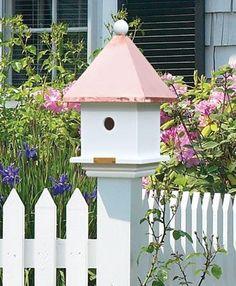 Mini Bird House Post Cap - Walpole Woodworkers