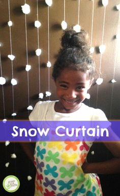 This is a great first sewing project for kids, plus it is simply lovely! http://www.greenkidcrafts.com/snow-curtain/