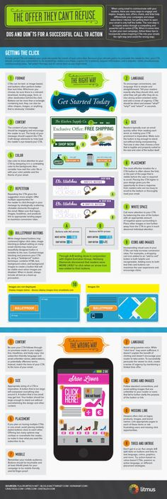 #Infographic How to Write the Best Call to Action Emails #Infografía