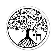 Tree of Life + Chai (Hebrew word for life)