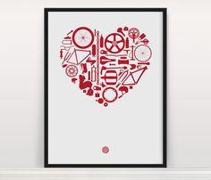 Bike Love Screen Print