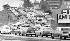 "Four lanes of cars crowd into Sky View Drive-in at 72nd Street and Hartman Avenue in Omaha in 1979. Big hits at Sky View included ""Friday the 13th"" and ""Mad Max Beyond Thunderdome."" JAMES R. BURNETT/THE WORLD-HERALD"