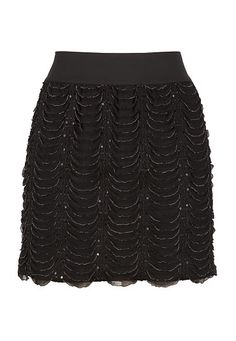 Pull On Eyelash Sequin Skirt available at #Maurices